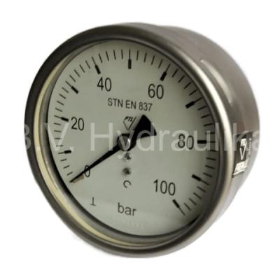 "Manometr 100 mm, 0-100 Bar, G1/8"" zadní suchý"