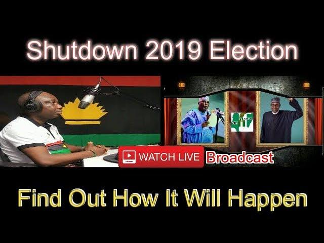 Live Debate: Shutting Down 2019 General Election – 7:00pm – 8:00pm (18/11/2018)