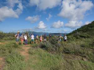 BVI Hiking Norman Island North Trail Group british virgin Islands