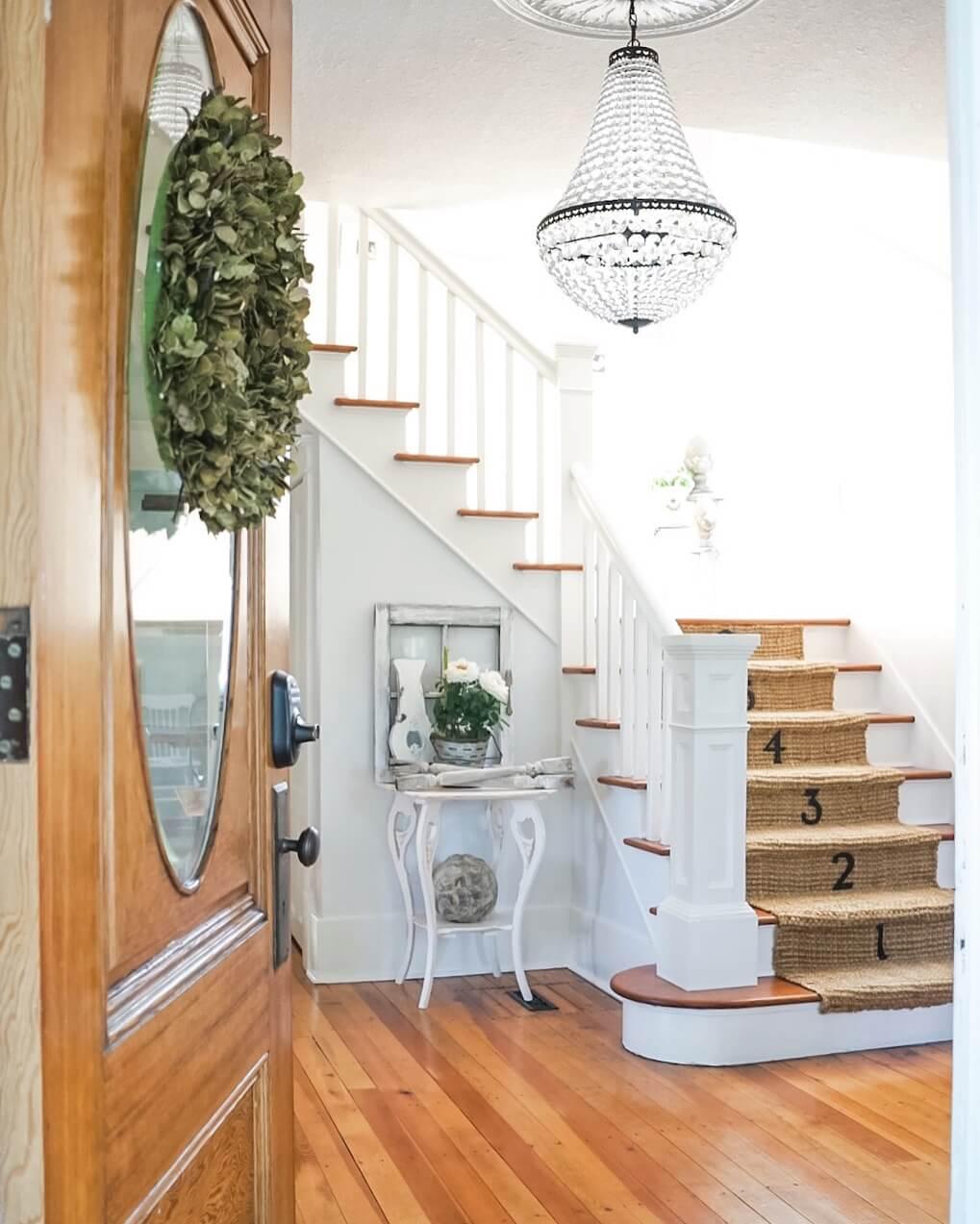 DIY Jute Stair Runner