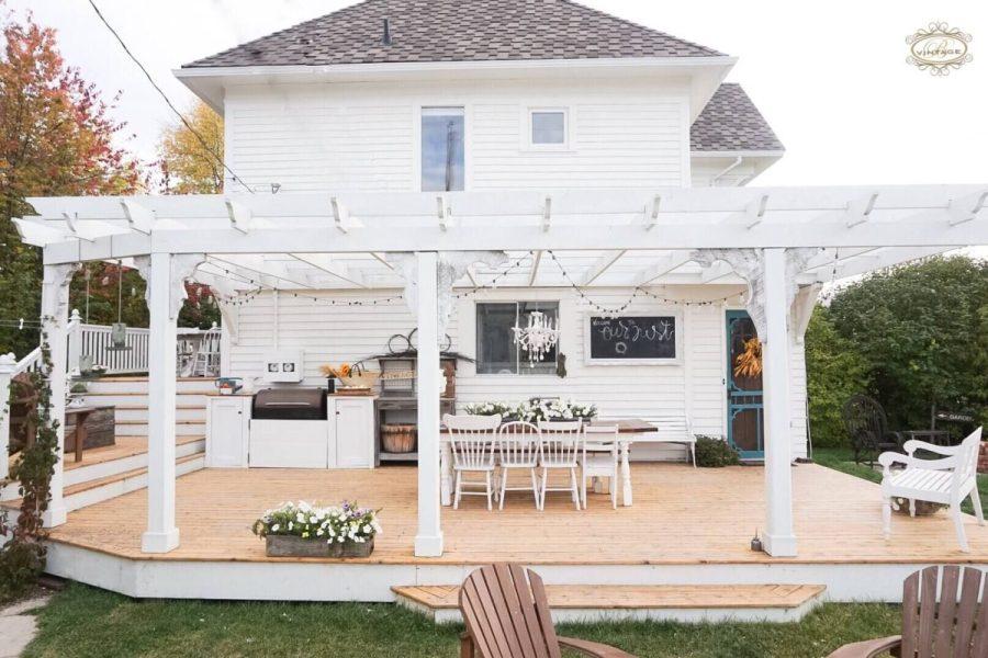 back patio white pergola 2