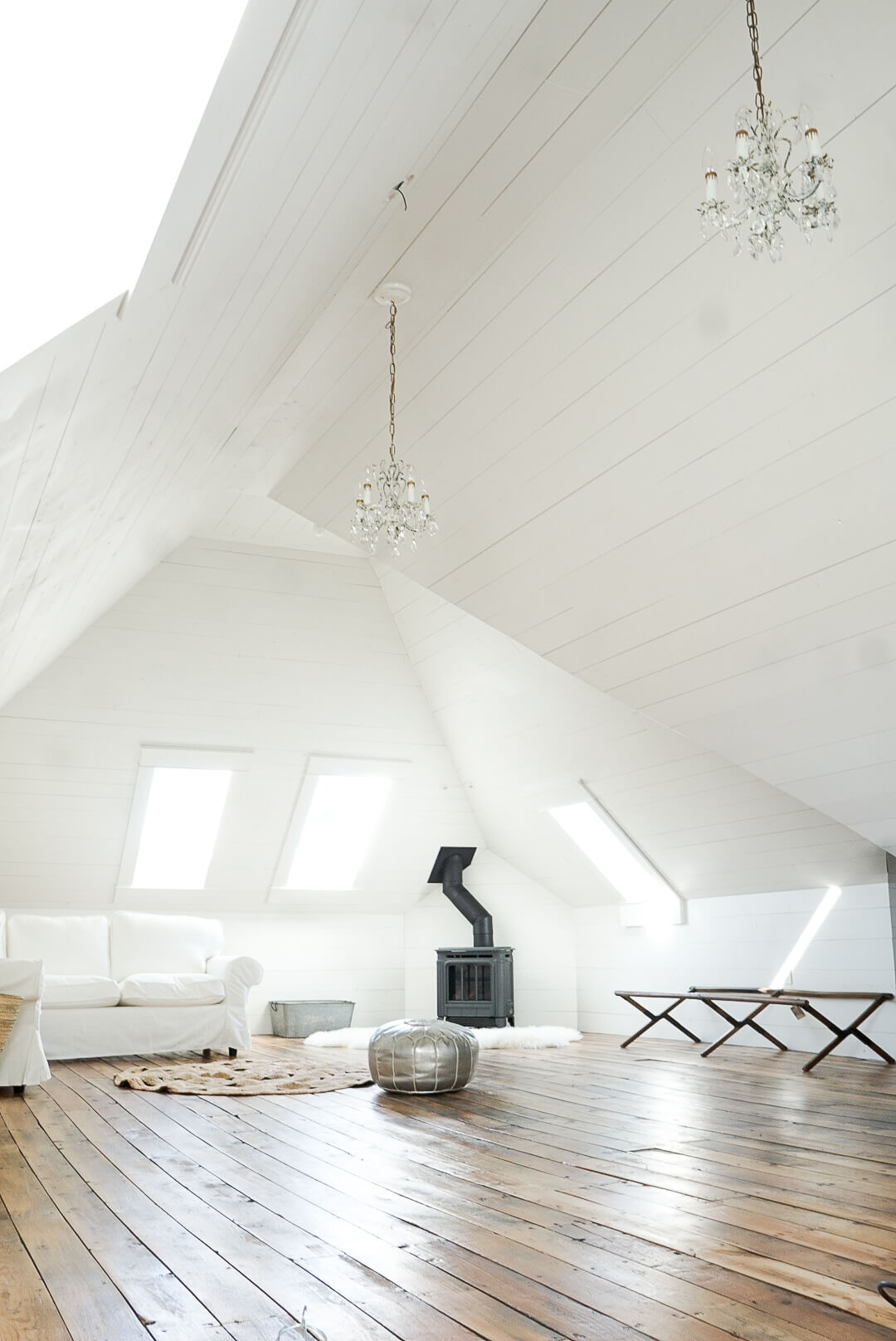 Project Attic Update Our White Shiplap Attic Family Room