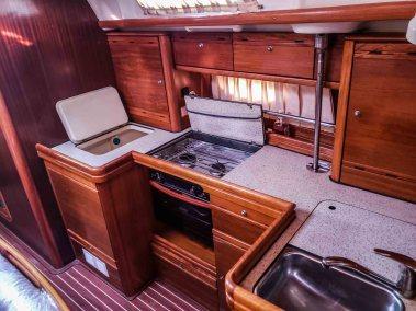 Bavaria 42 Cruiser Miss B'Haven galley