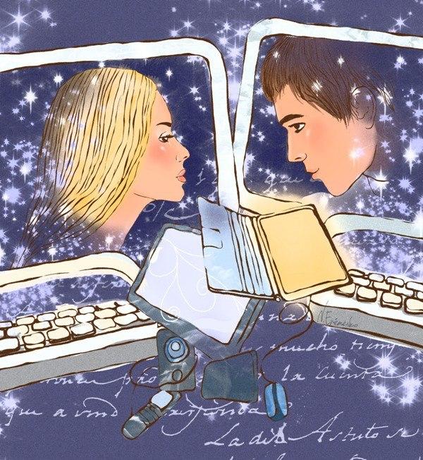Cinta virtual, menggambar
