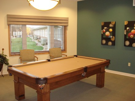 Courtyard Terrace Assisted Living Billiards Room | Nebraska Assisted Living | Nebraska Senior Living