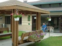 Blue Valley Care Home Courtyard | Mentally Disabled Care Nebraska