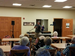 Chris Sayre performing at Blue Valley Lutheran Homes