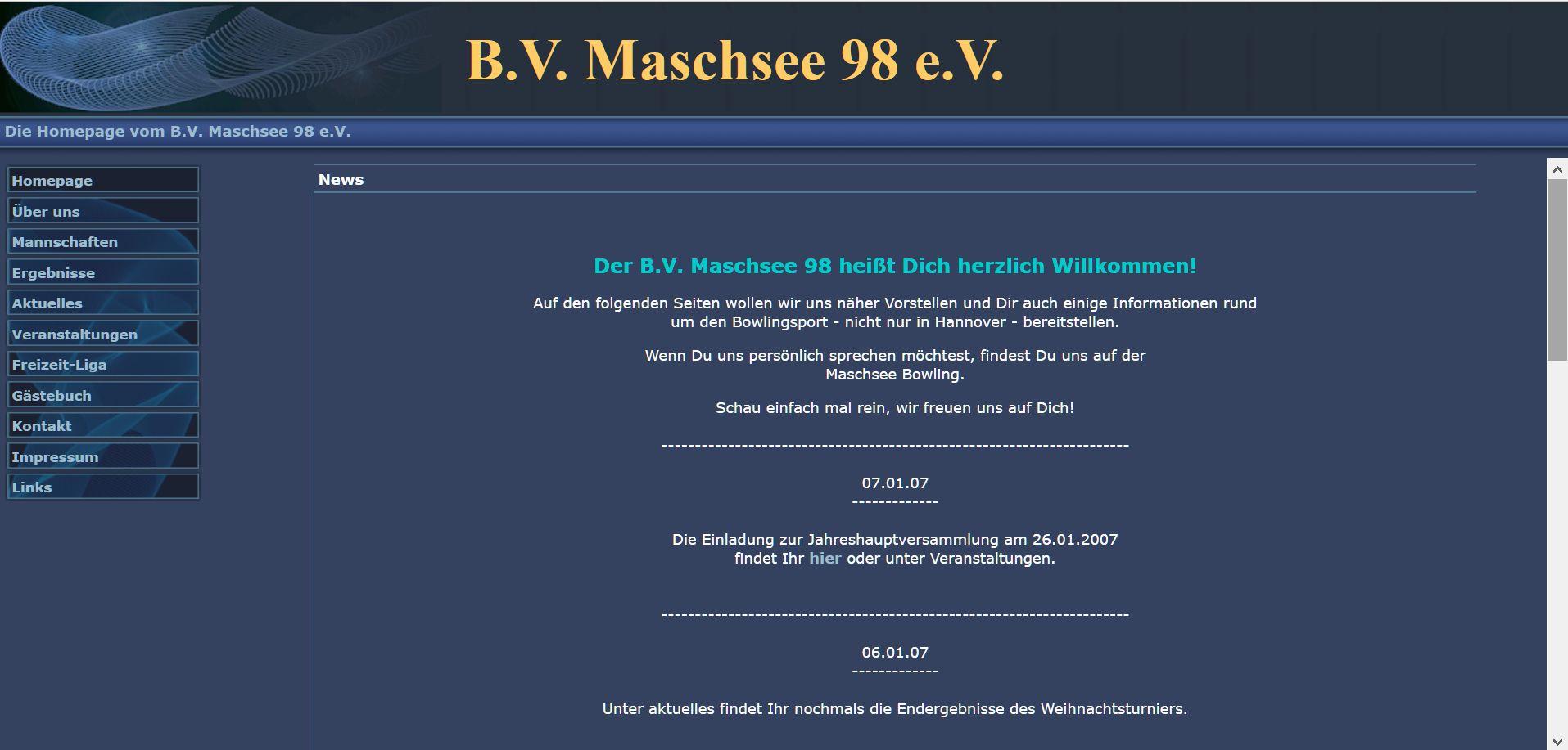 Entwicklung unserer Homepage