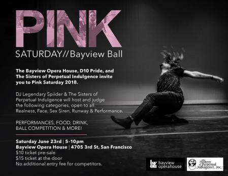 PINK Saturday - Bayview Ball