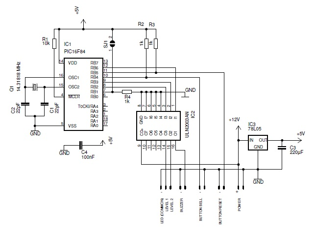 Smart doorbell System with PIC16F84
