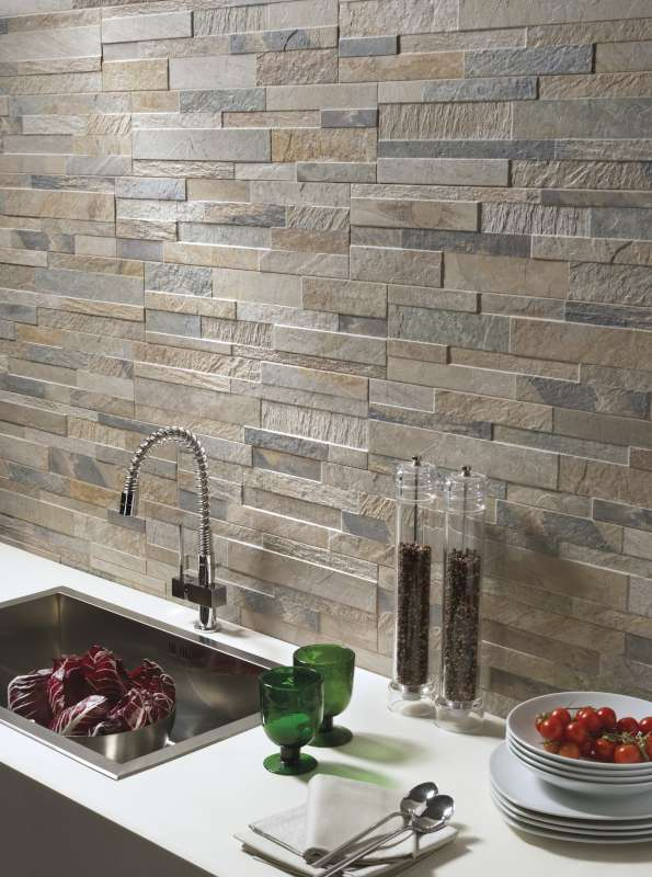 Cubics 3D Ledger Stone Look Wall Tile  Ceramica Rondine  BV Tile and Stone