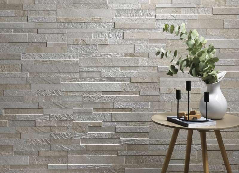 Cubics 3D Ledger Stone Look Wall Tile  Ceramica Rondine