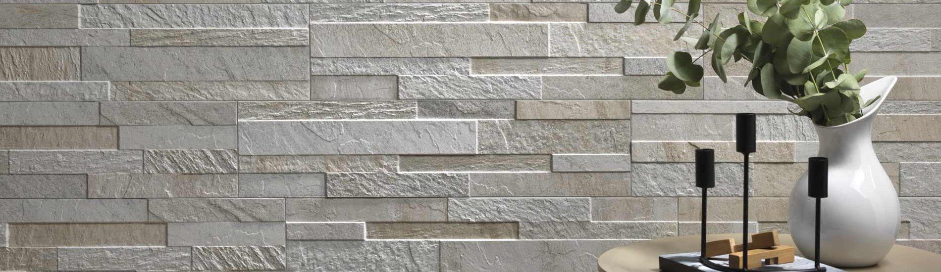 cubics 3d ledger stone look wall tile