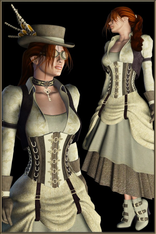 Fashion - Steampunk V4 3d Figure Assets Boundless