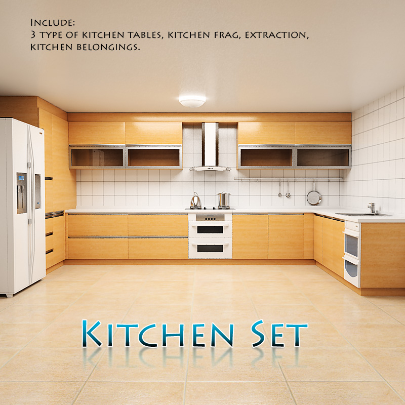 full kitchen set redesign my p1 humster3d