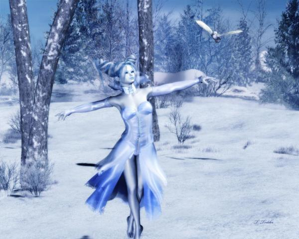 Snow Fairy Dewdrop Poser Faeries