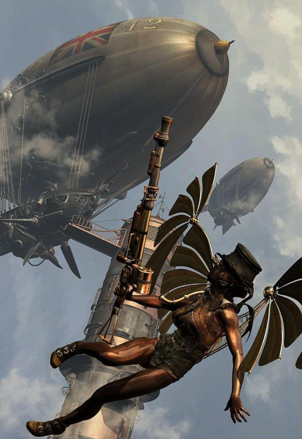Steampunk Warlords Of Air Paul Francis Poser