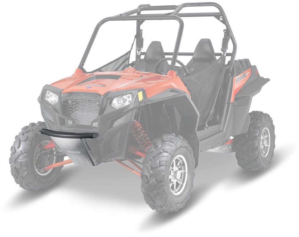 hight resolution of low profile front bumper riding 2008 2013 polaris rzr 4 570 800 900 2878567 oem