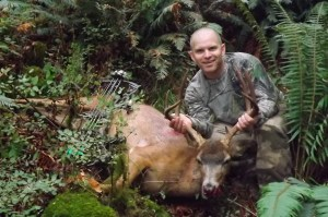 Mark with his P & Y Buck! First bow kill of big game!