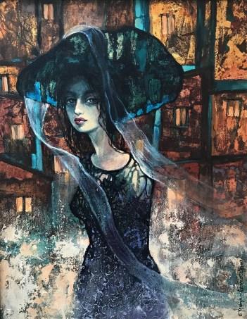 Ewa Jędryk- Czarnota, Swiatła Barcelony, olej, 50 x 40 (1)