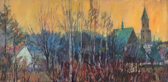 Damian Pacha, Aura nad miastem, olej 40x80, 2400,00zł