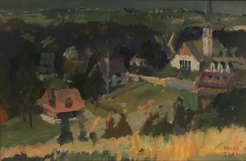 Damian Pacha,Cyrhla, olej, 20 x30, 600,00zł