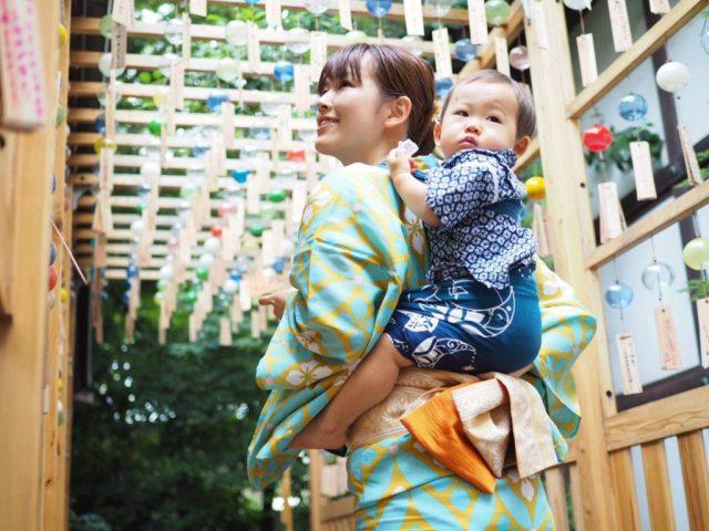 写真4. 兵児帯:ママと同じ目線で、夏を一緒に楽しもう!