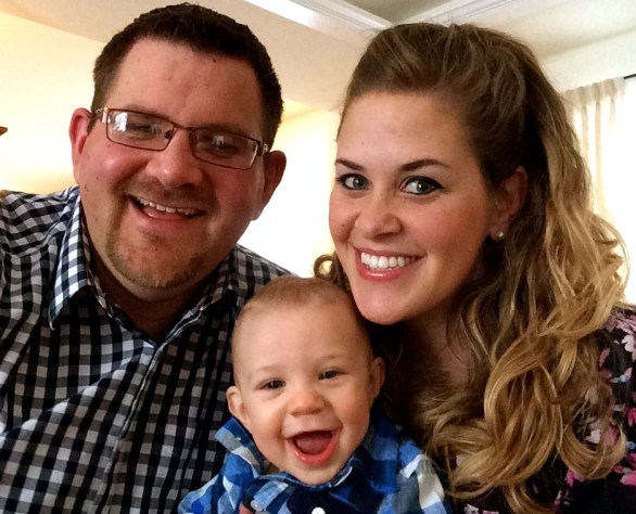 Phillip and Jaclyn Nanof with their son, Brigham