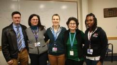 From left: Panelists Kevin Farley, Monique Cerundolo, Mariya Kalashnikova, Beth Flanzbaum and Neldine Alexandre