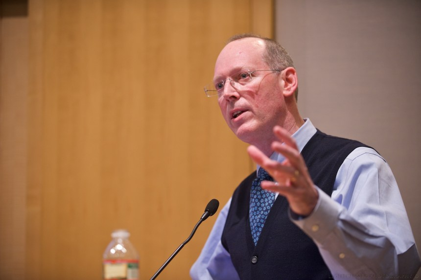 BWH's Paul Farmer gives the Research Day keynote, which focuses on the role research plays in global health equity.
