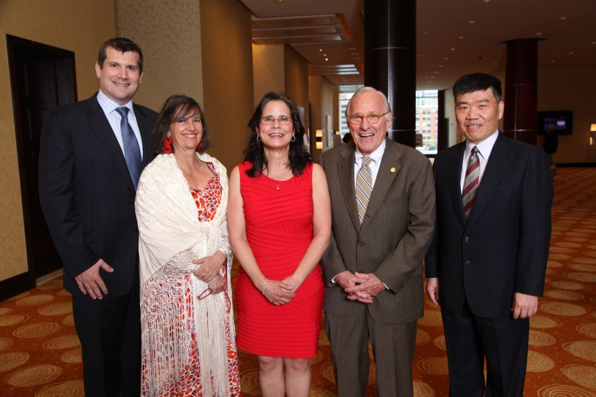 Award winners from left: Christopher W. Baugh; Mariana C. Castells; Susan Schilling; Donald P. Goldstein; Frank C. Kuo (missing Aaron L. Berkowitz)