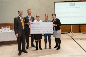 Terrie Inder (third from left) and her team received a BRI Director's Transformative Award.