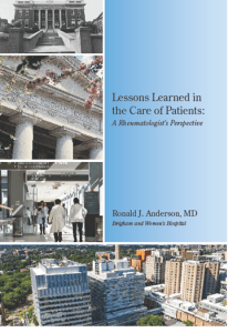 photo of the cover of the Lessons learned in the care of patients book