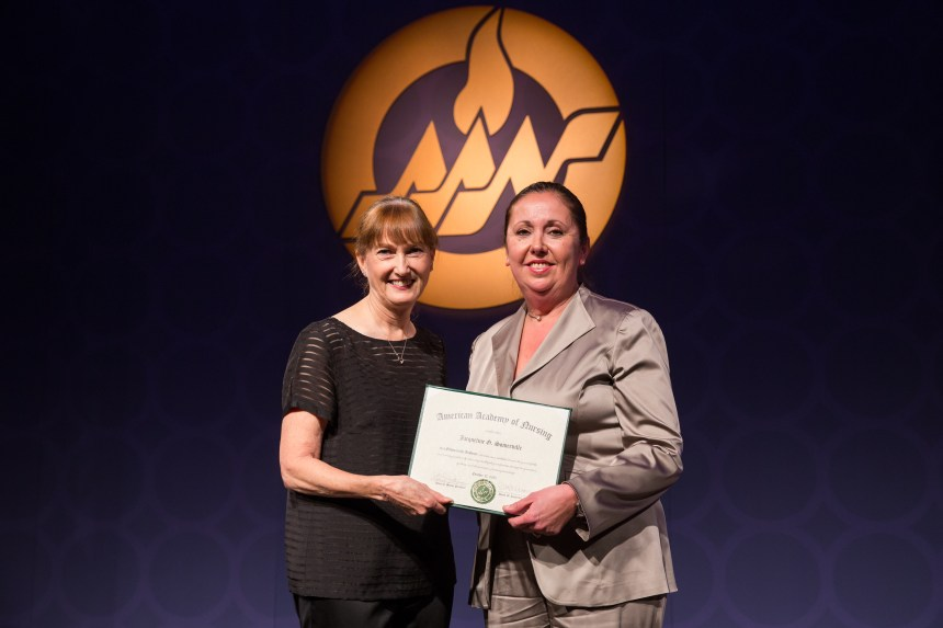 Jackie Somerville, PhD, RN, FAAN, is inducted as a Fellow in the American Academy of Nursing