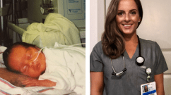 Elizabeth Orsini (in 1995 at left and today at right) received an outpouring of supportive messages via social media in response to her story.