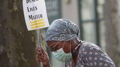Woman at Black Lives Matter vigil