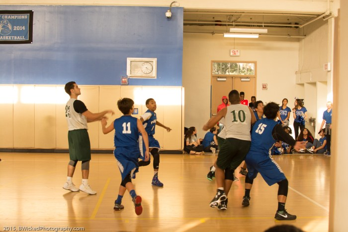 Jonathan fighting for a rebound