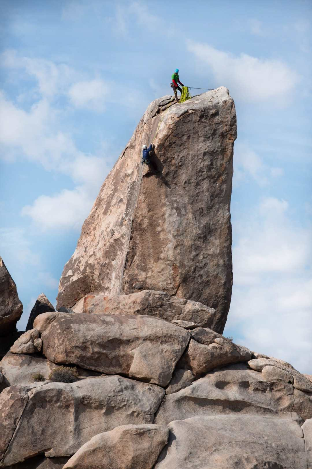 rock climbing in joshua tree national park