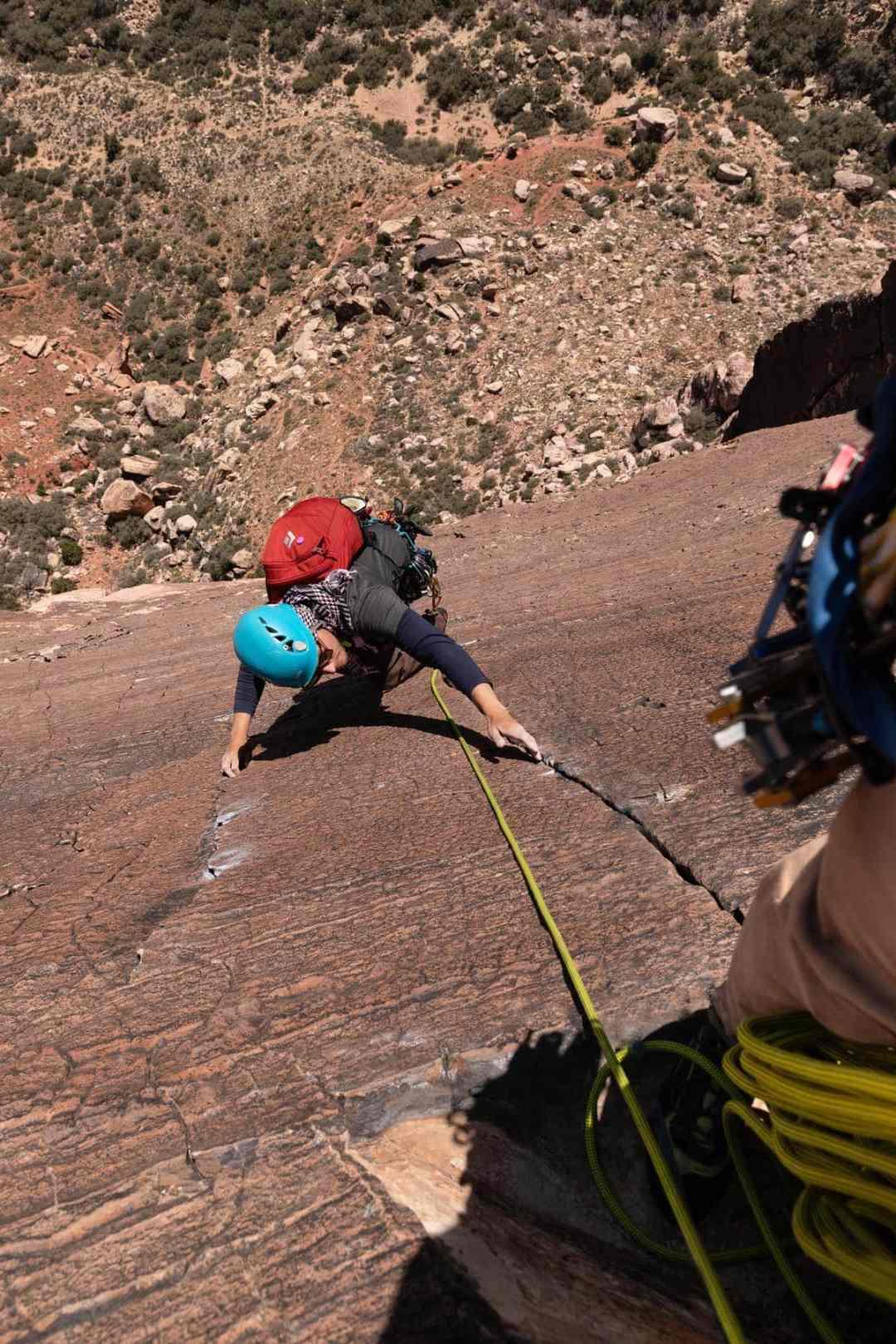 rock climbing birdland Red Rock Canyon National Park