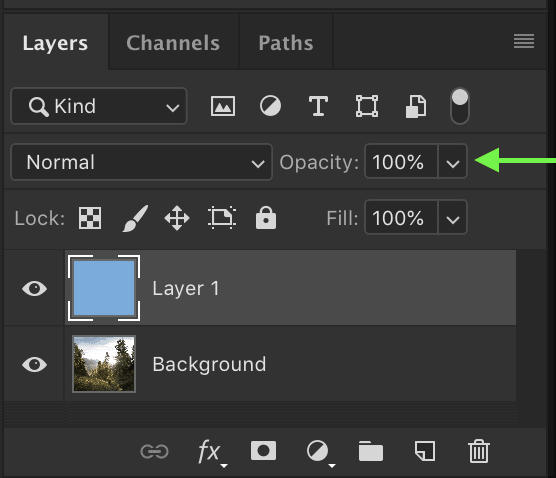 photoshop shortcuts layer opacity