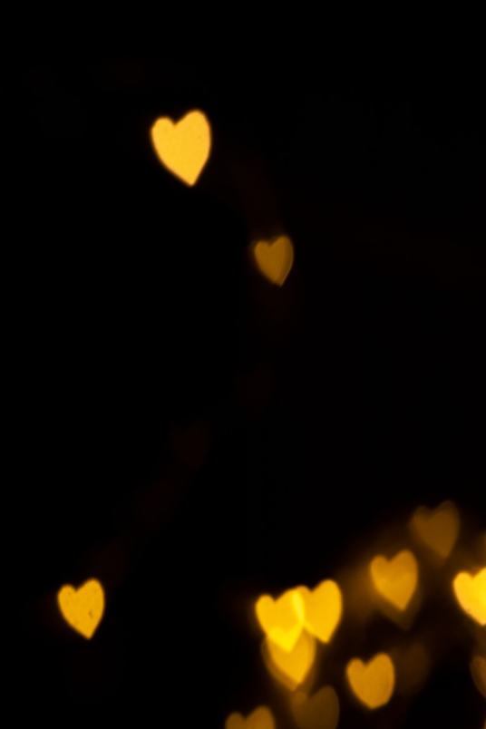 heart shaped bokeh photography