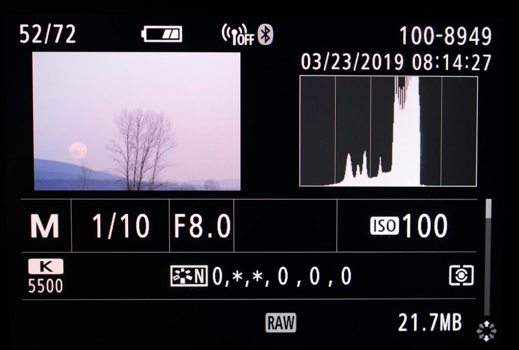 Histogram-on-camera