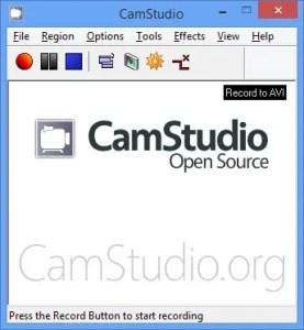 CamStudio could not record the AVI file using current compressor. Use default compressor?