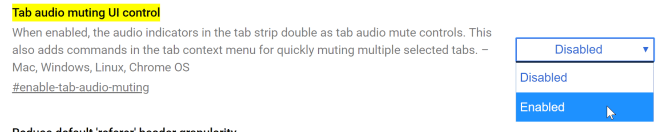 Mute tabs in Chrome.