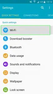 Wi-fi networks Available Android.