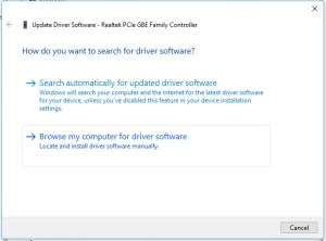Realtek PCIe GBE Family Controller is disconnected from network