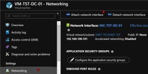 Disabled network interface Azure VM.