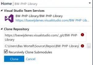 PowerShell to Visual Studio Repository