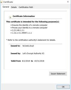 Let's encrypt for Windows Admin Center (WAC)