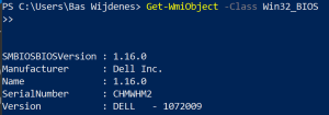 Get the BIOS Serial number in PowerShell.